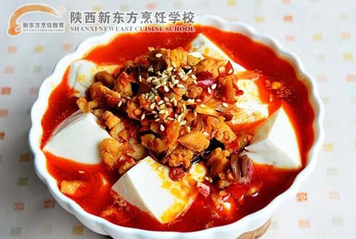 学生作品--鸡米捞豆腐