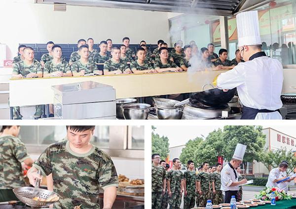 退伍军人学厨师